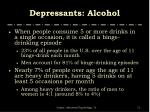 depressants alcohol11