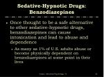sedative hypnotic drugs benzodiazepines32