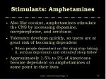 stimulants amphetamines49