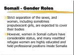 somali gender roles