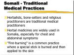 somali traditional medical practices