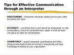 tips for effective communication through an interpreter
