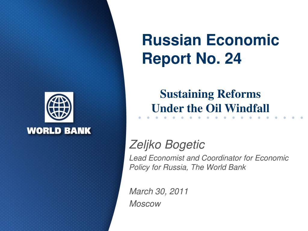 russian economic report no 24 l.