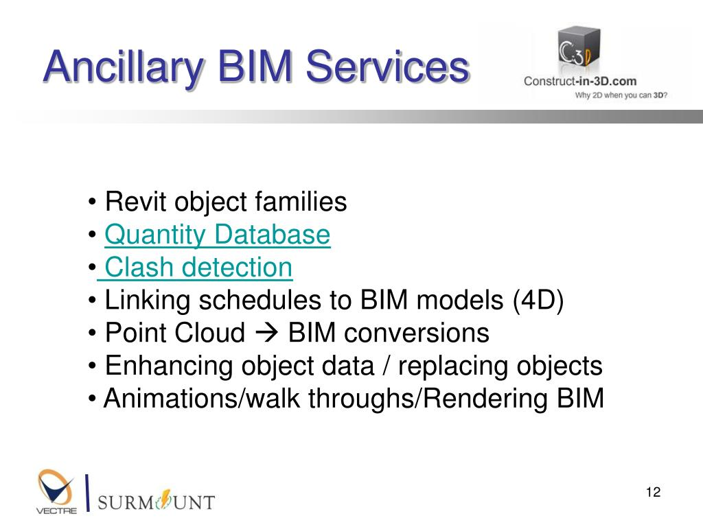 Ancillary BIM Services