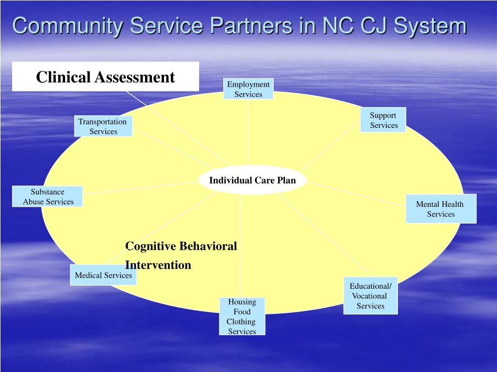 Community Service Partners in NC CJ System