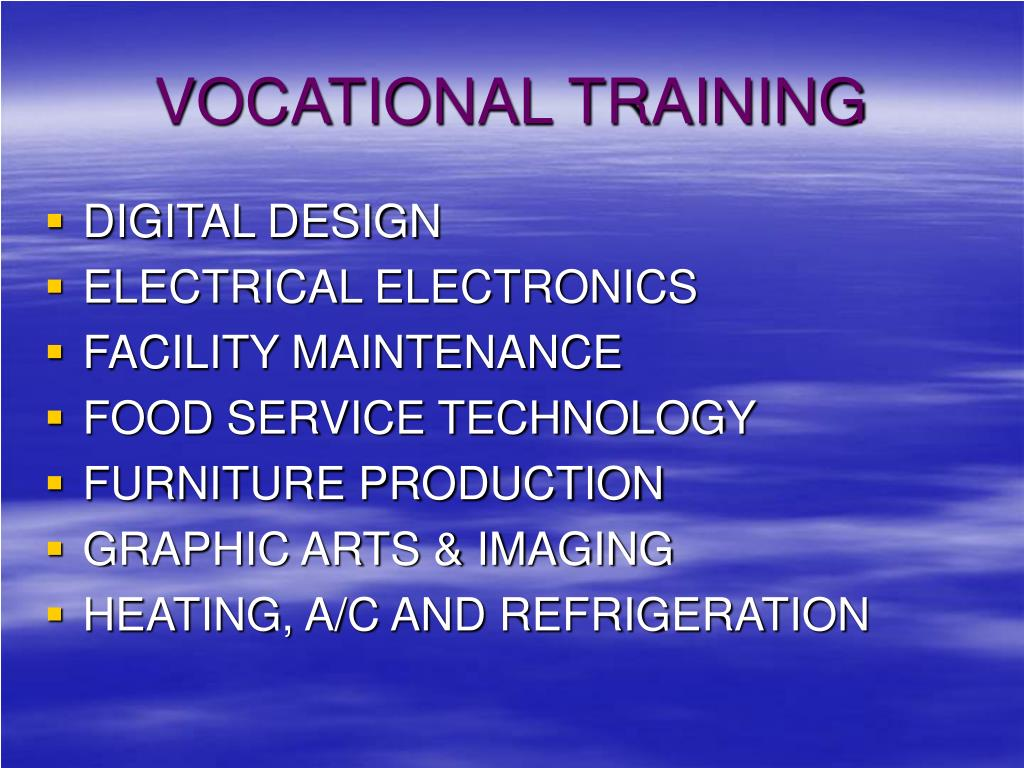 VOCATIONAL TRAINING