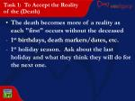 task 1 to accept the reality of the death24