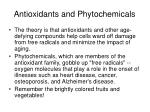 antioxidants and phytochemicals