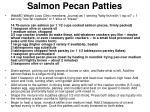 salmon pecan patties