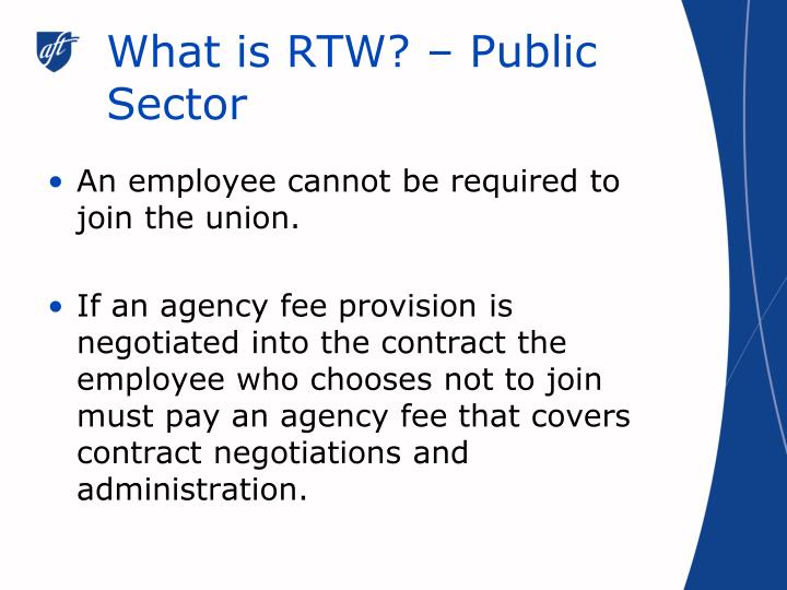 What is rtw public sector