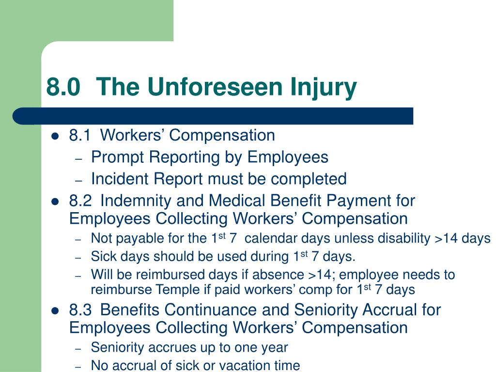 8.0The Unforeseen Injury