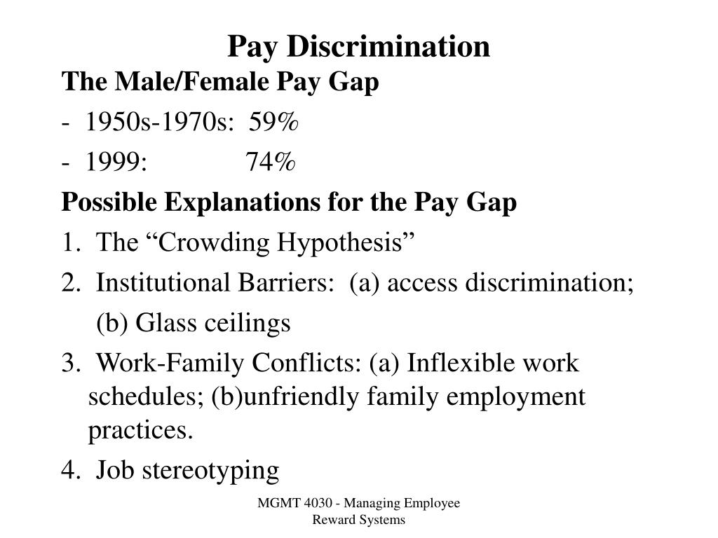 pay discrimination l.