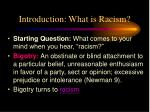 introduction what is racism