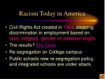racism today in america