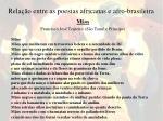 rela o entre as poesias africanas e afro brasileira