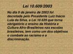 lei 10 609 2003