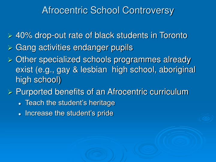 Afrocentric school controversy