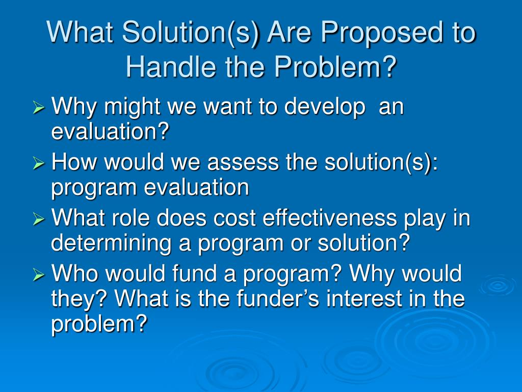 What Solution(s) Are Proposed to Handle the Problem?