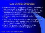 euro and black migration
