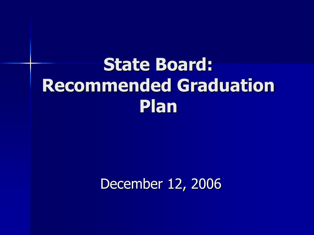 state board recommended graduation plan l.