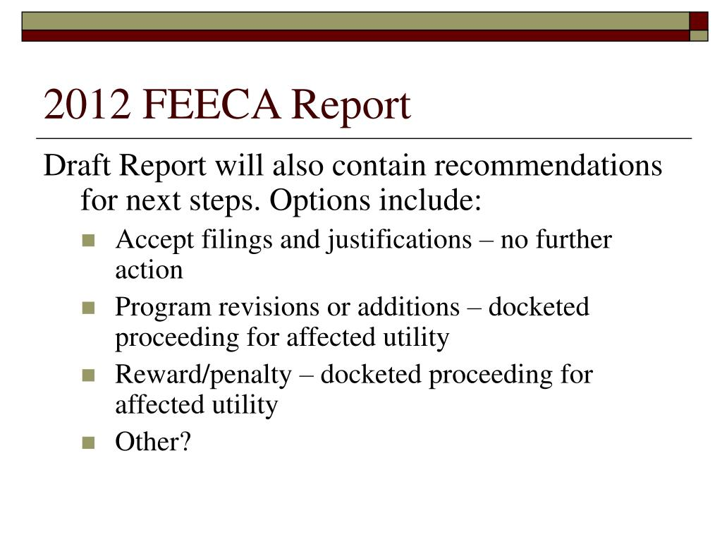 2012 FEECA Report