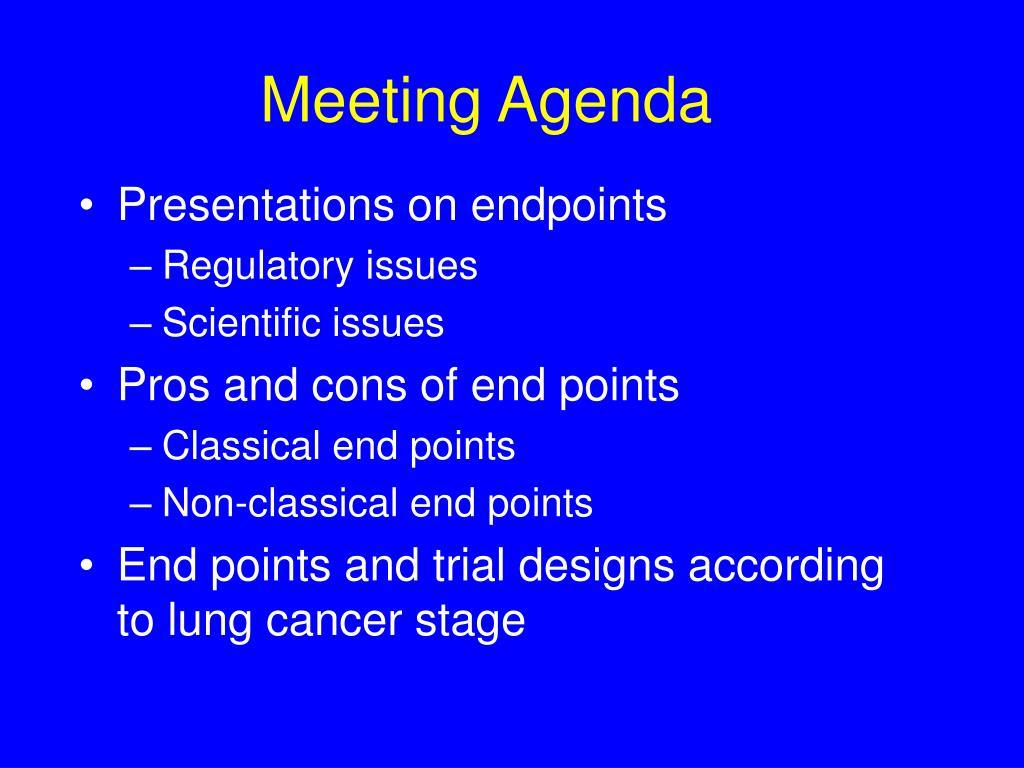meeting agenda l.