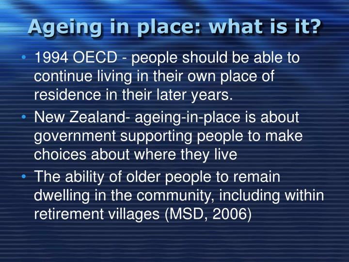 Ageing in place what is it