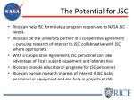 the potential for jsc