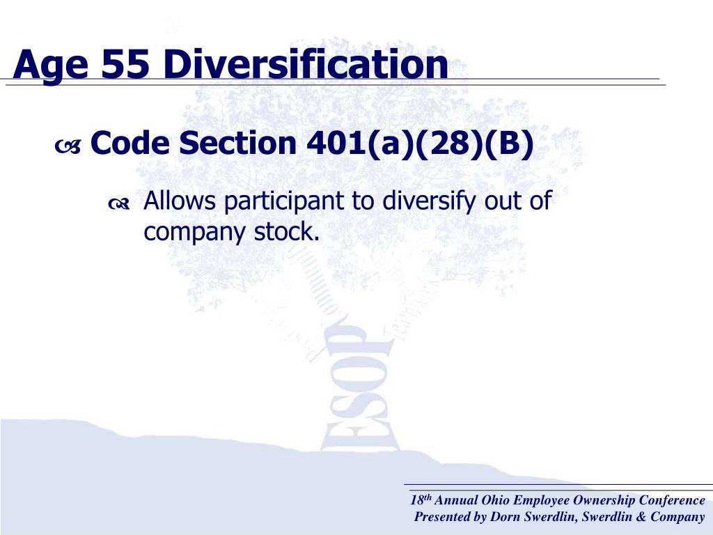 Age 55 Diversification
