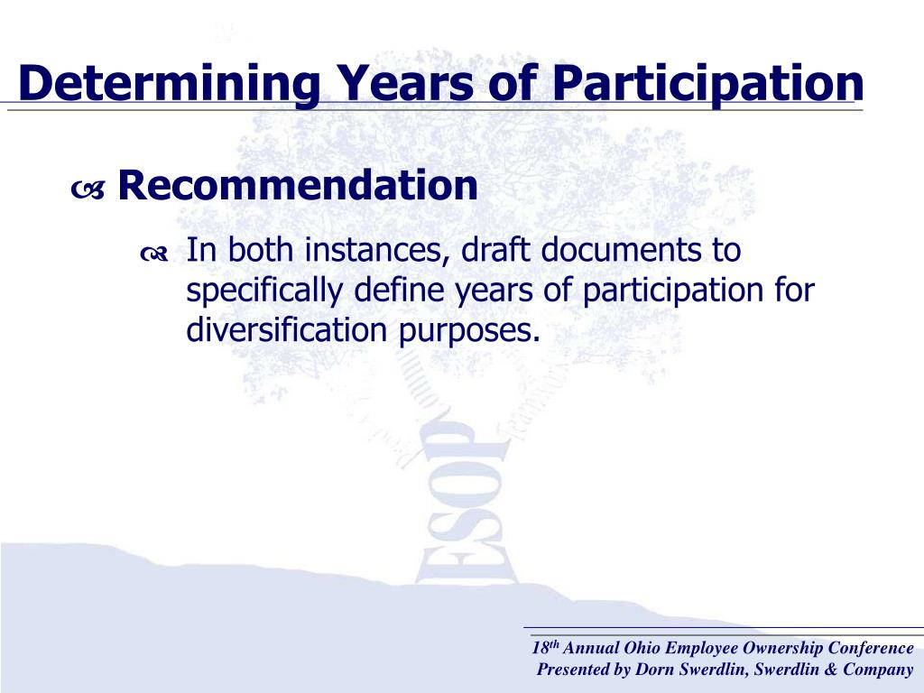 Determining Years of Participation