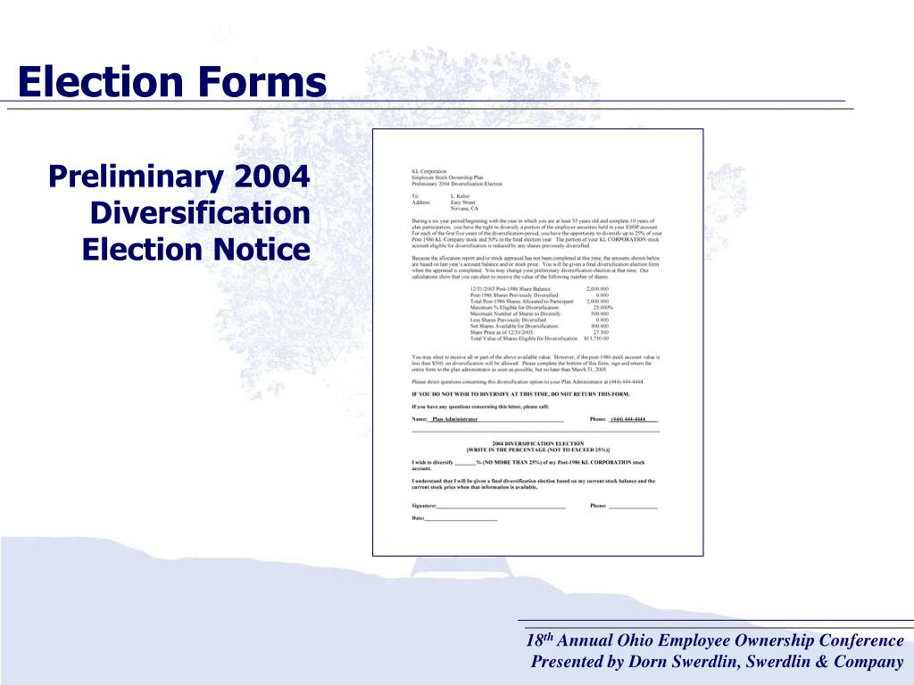 Election Forms