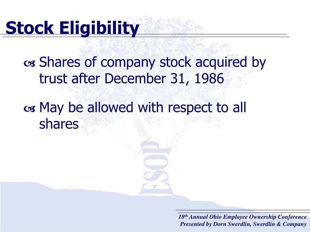 Stock Eligibility