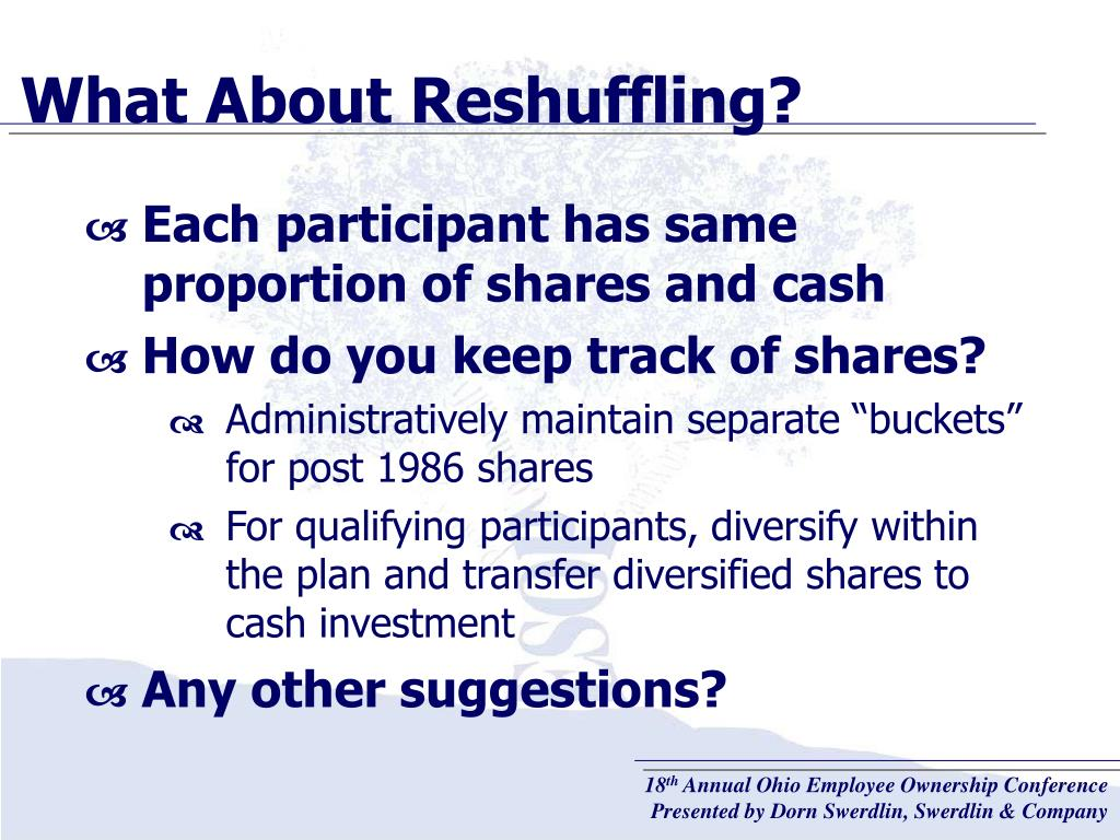 What About Reshuffling?