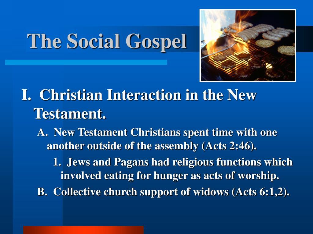 the social gospel l.