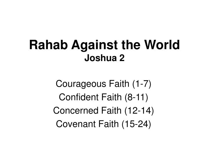 Rahab against the world joshua 2