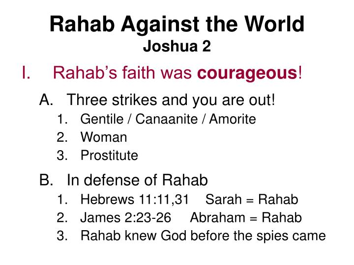 Rahab against the world joshua 22