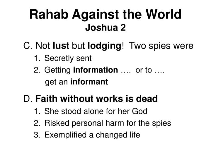Rahab against the world joshua 23