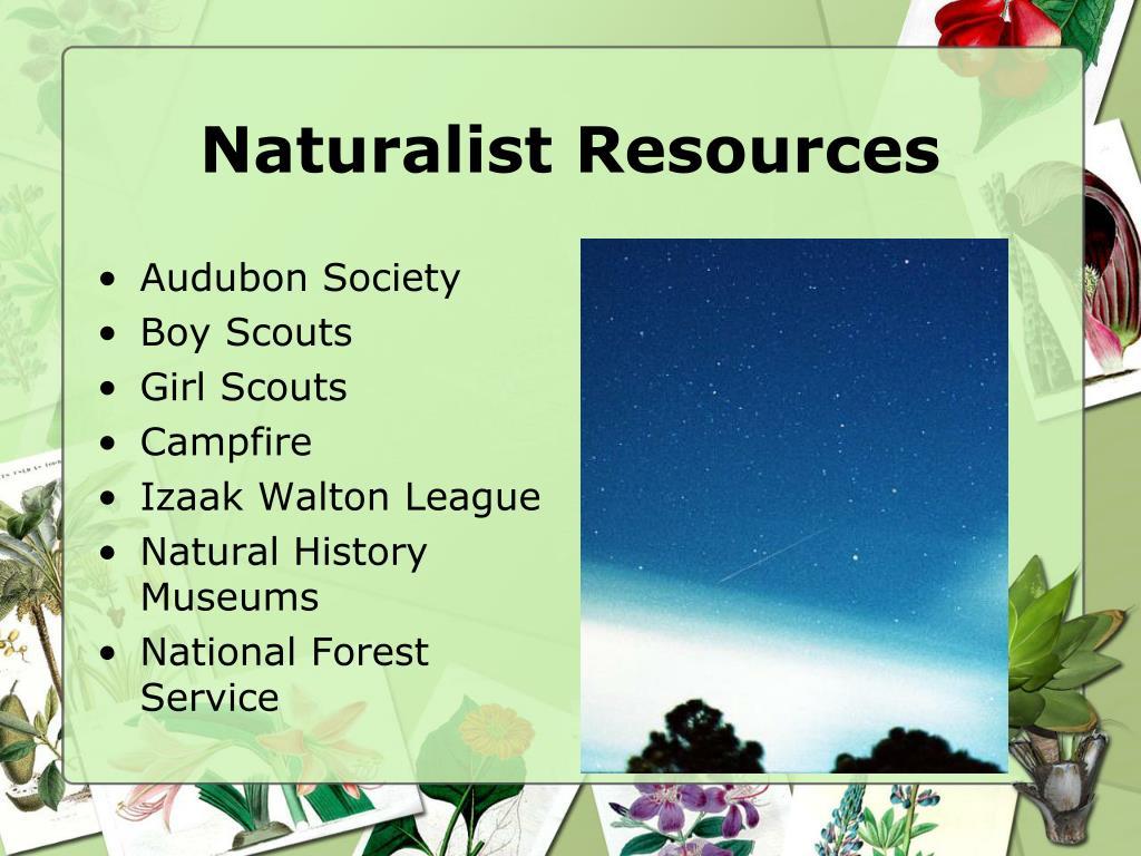 Naturalist Resources