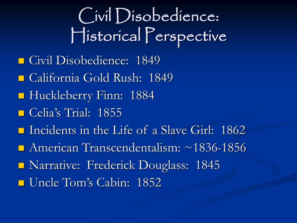 Civil Disobedience: