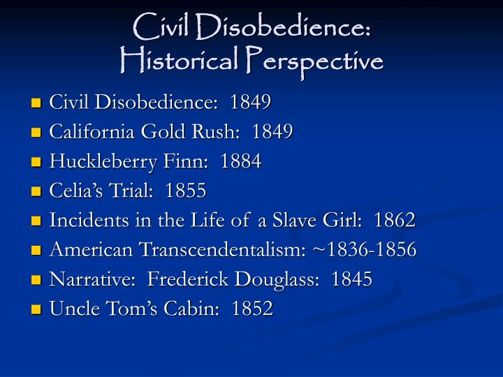 Civil disobedience historical perspective