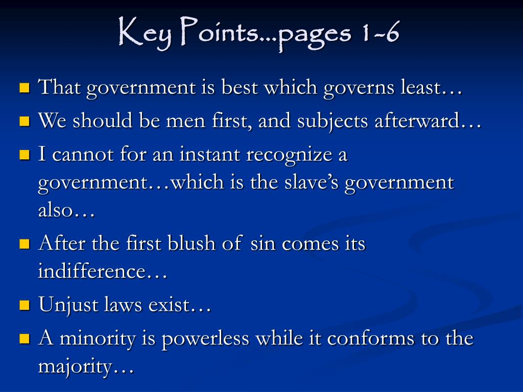 Key Points…pages 1-6