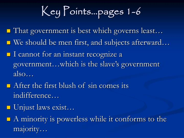 Key points pages 1 6
