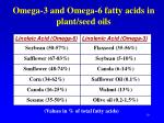 omega 3 and omega 6 fatty acids in plant seed oils