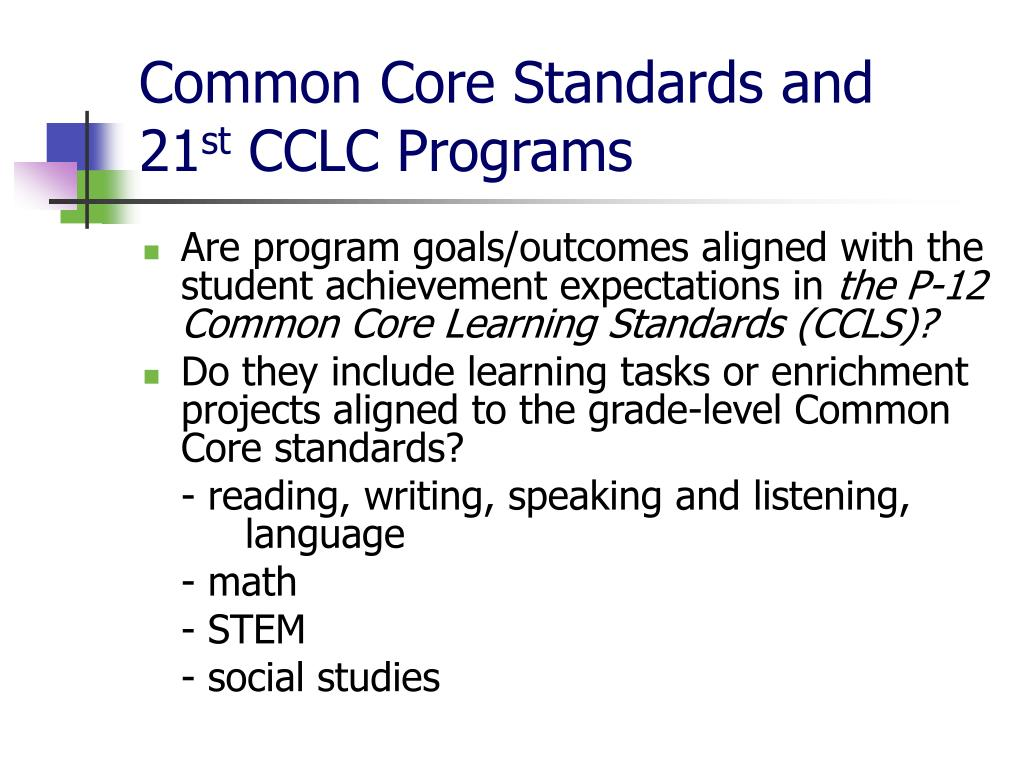 Common Core Standards and
