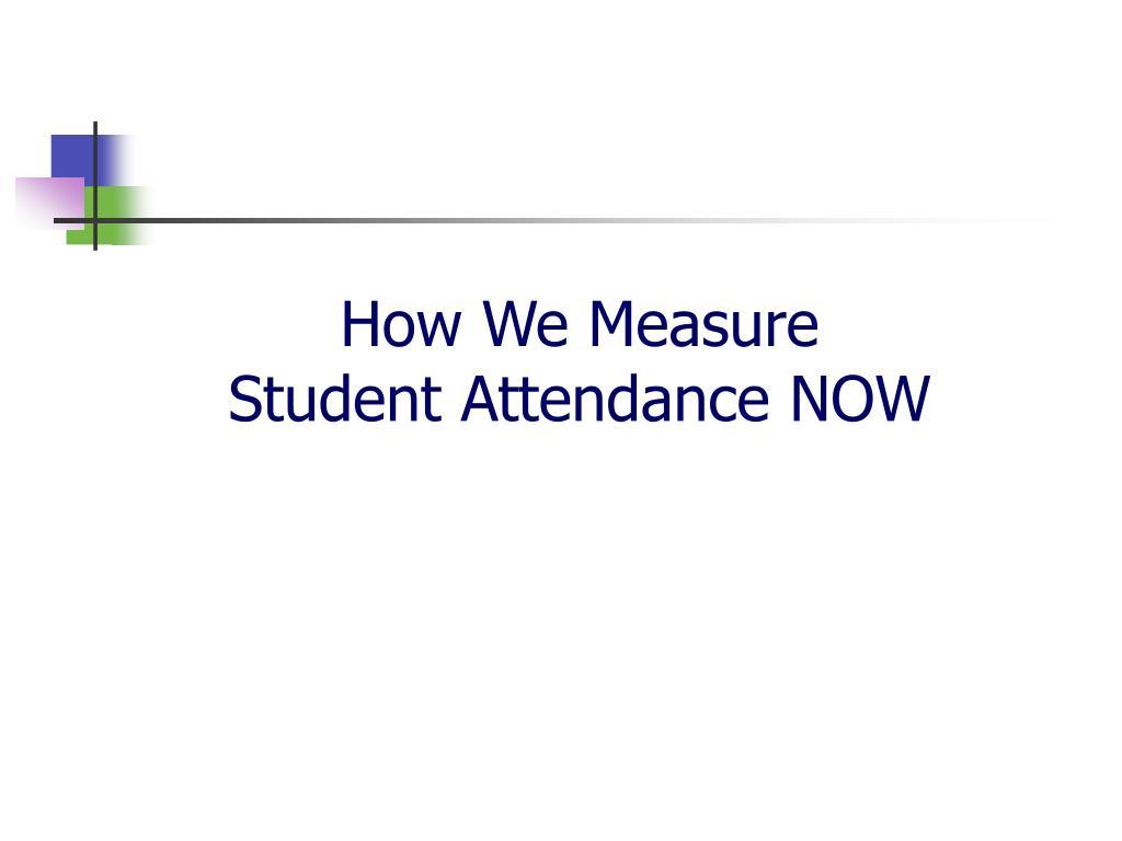How We Measure