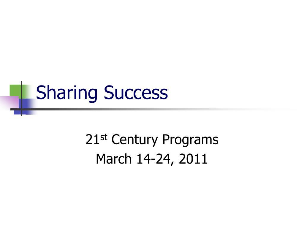 Sharing Success