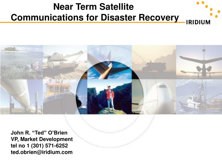 understanding satellite communications for disaster recovery n.