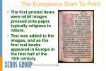 the europeans start to print
