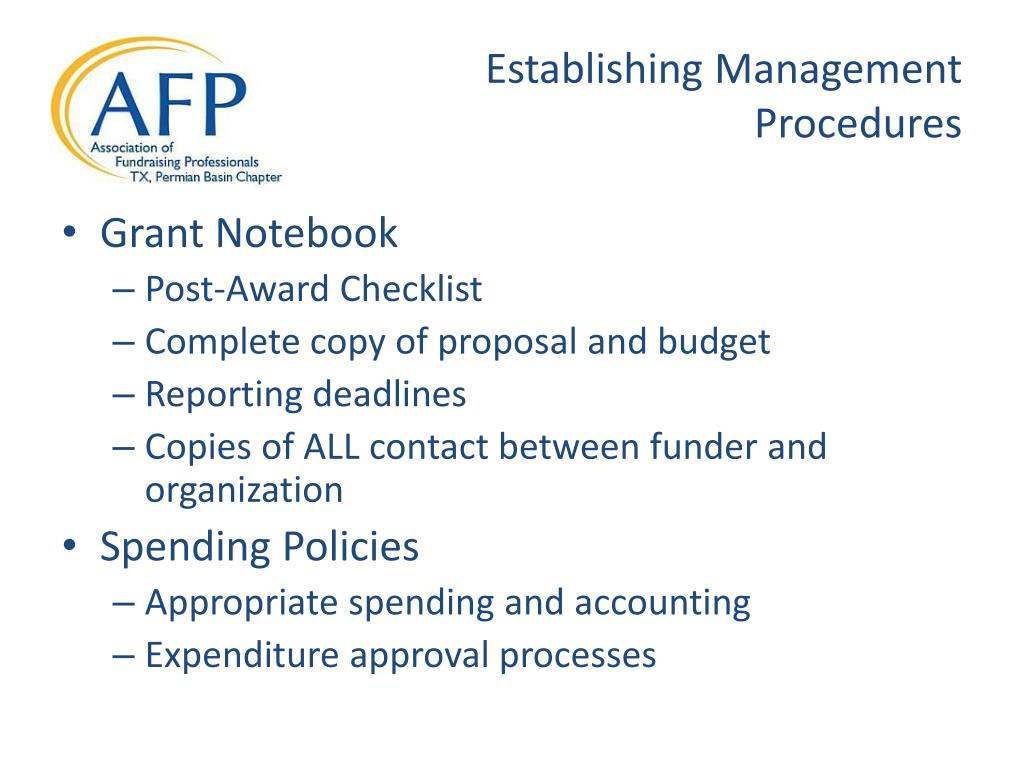 Establishing Management