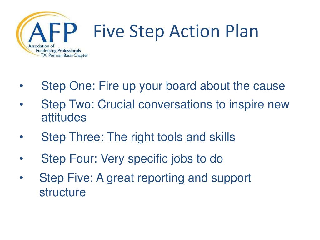 Five Step Action Plan